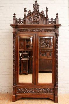 Beautiful French Gothic Bedroom in oak dating from the 19th century. Wonderful expression of antique Gothic carved detail. Stunning model and one that should be seen in person to fully appreciate.   The Gatz www.thegatz.com