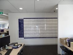 2 x 4m Magnetic Whiteboard Wall Calendar and Annual Planner