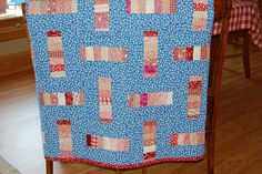 Peppermint Sticks quilt. @Missouri Star Quilt Company - If I won the Chevron Fat Quarter Bundle I'd make a quilt for my daughter's wedding in April!!!
