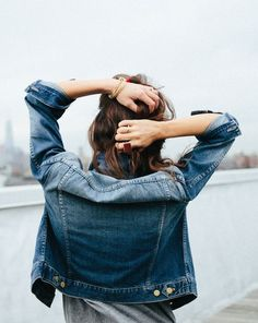 Conquering the week one denim jacket at a time.