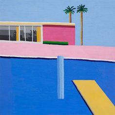 The Colorful Abstract Paintings of Guy Yanai   Beautiful/Decay Artist & Design -   very David Hockney.