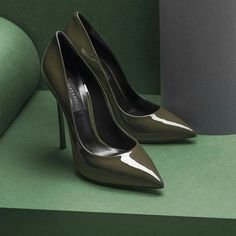 Casadei Green is the new black. The Greenwich Collection brings richness to every outfit.