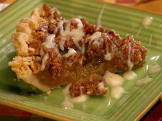 Pecan Pie with Maple Bourbon Cream