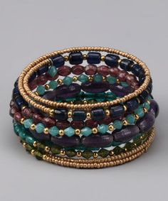 Love this coil bracelet, I'm becoming such a fan of memory bracelets, Such color and texture blending possibilities!