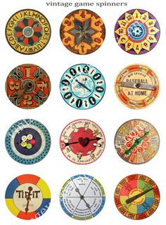 Vintage BOARD GAME SPINNERS  w 1.25 in added by vintagewarehouse, $3.75