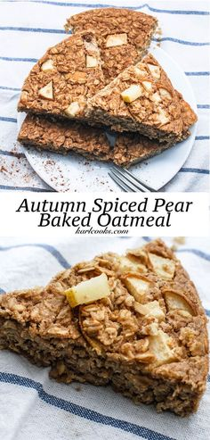 Meal Prep Perfection- healthy gluten free and vegan baked oatmeal that will last all week long!