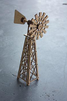 Laser cut windmill