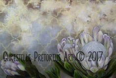 White Proteas Art Print by Christelle P Art Diy Canvas, Canvas Wall Art, Protea Art, Wall Candy, Charcoal Art, Cow Art, Flower Art, Art Flowers, Pretty Flowers