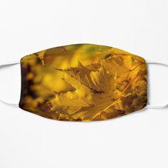 Mask For Kids, Autumn Leaves, Snug Fit, Scandinavian, Face Masks, Ear, Art Prints, Yellow, Printed