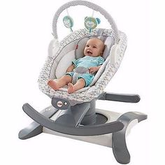 Baby, Infant 4-in-1 Rock 'n Glide Soother Musical Swing, Rocker, and Bouncer