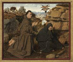 A Guided Tour of Philadelphia in the Year 1430, Jan van Eyck, Saint Francis of Assisi Receiving the Stigmata #1430 #painting #PMA #Philadelphia #art #artwork #JanvanEyck