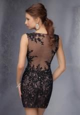 Mori Lee Sticks & Stones 9296.  Available in Black/Nude, Nude, Red/Nude