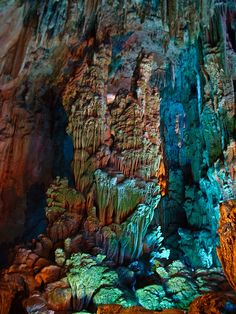 Reed Flute Cave, Guilin, China.
