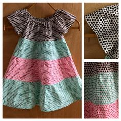 Polka Dot Tiered Peasant Dress, size 4t by SewMeems on Etsy