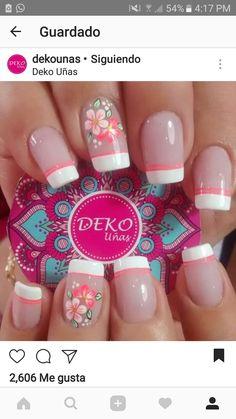 Pretty Nail Art, Cute Nail Art, Beautiful Nail Art, Pink Nail Art, Gel Nail Art, Love Nails, Fun Nails, Cute Spring Nails, Nail Decorations