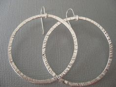Silver Hoops from Jewels by Terri & Monica