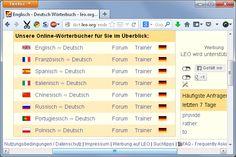 Direkt im Browser Wörter übersetzen