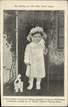Princess Juliana, daughter of Queen Wilhelmina, looking like a porcelain doll.