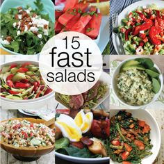 15 Fast Salads for Summer!