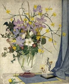 January Flowers Maxwell Ashby Armfield (c.1881–1972; British) Tempera on board, 61 x 51 cm Russell-Cotes Art Gallery & Museum