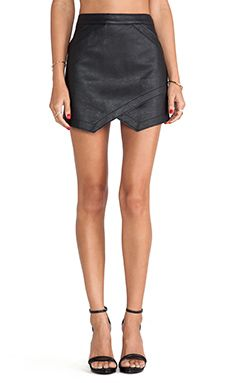 BCBGMAXAZRIA Envelope Skirt in Black | REVOLVE