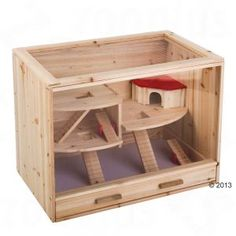 Hamster Cages - Loft Wooden Cage: Free P&P on orders of £25+ at zooplus