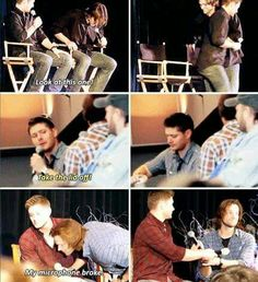 Jensen giving up his things for Jared. True brothers.