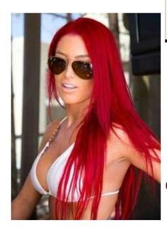 WWE Diva Eva Marie....I am dying my hair this red. I AM IN LOVE :0