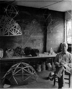 """Buckminster Fuller. """"Most of my advances were by mistake. You uncover what is when you get rid of what isn't."""". . . """"When I am working on a problem, I never think about beauty but when I have finished, if the solution is not beautiful, I know it is wrong."""" . . . """"Nature is trying very hard to make us succeed, but nature does not depend on us. We are not the only experiment."""""""