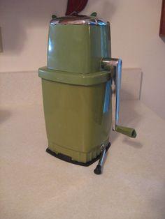 Vintage Avocado Green Chrome SwingAWay Ice Crusher by DaisysAttic, $28.00