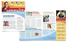 Community Non Profit Newsletter Template Design by StockLayouts Newsletter Design Templates, Newsletter Layout, Graphic Design Templates, Newsletter Ideas, Templates Free, Company Newsletter, Page Layout Design, Web Design, Print Design