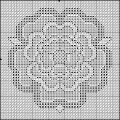 Free Printable Cross Stitch Patterns | DragonBear: Free English Rose Cross-Stitch Pattern