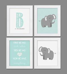 Printable Nursery Prints  Chevron Elephants  by whatthehootdesigns, $20.00