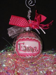 Personalized Christmas Ornaments Softball Size by AprilsFreetime