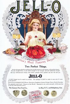 1920'S+Advertising | 1920's jello print ads