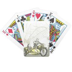Vintage Hockenheim Motorbike Ad Bicycle Playing Cards