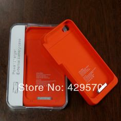 Ultra Slim 1900mAh External Backup Battery Charger Case For Apple Iphone4S 4 4G Emergency Charger Power Bank 10 Color Available  $342.50