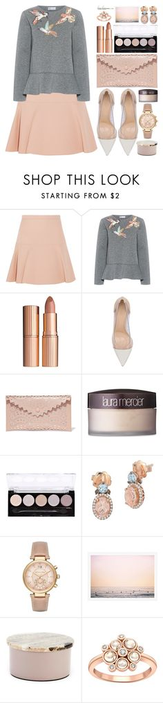 """La La Land"" by beautifully-eclectic ❤ liked on Polyvore featuring Miu Miu, RED Valentino, Charlotte Tilbury, Gianvito Rossi, Alaïa, Laura Mercier, L.A. Colors, LE VIAN, Michael Kors and Broste Copenhagen"