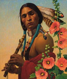 Available for sale from Trailside Galleries, Thomas Blackshear, Fancy Feathers Oil on canvas, 39 × 49 in Native American Artwork, Native American Indians, Native American Artists, Illustrations, Illustration Art, Thomas Blackshear, Wow Art, Indigenous Art, Native Art