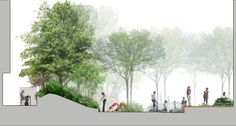 landscape architecture section renderings - Αναζήτηση Google