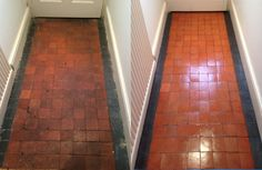 Victorian Clay Tile cleaning and sealing in Nottingham