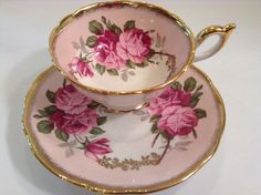 VINTAGE ROSES TEA CUP AND SAUCER FOLEY $90