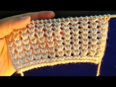 Knitting Tutorials For Advanced Knitters Knitting Designs, Knitting Patterns Free, Knit Patterns, Stitch Patterns, Knitting Stiches, Knitting Videos, Easy Knitting, Crochet Stitches, Pullover Design