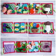 """Развивающие игрушки ручной работы. Ярмарка Мастеров - ручная работа. Купить Развивающая книга """"Лето"""". Handmade. Цветы, развивающая книжка"""