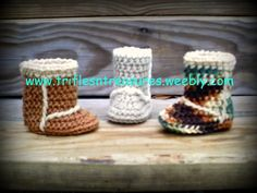 Free crochet baby ugg boots pattern