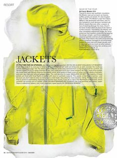 Arc'teryx Modon Jacket gets Gear of the Year award from @Outside Magazine