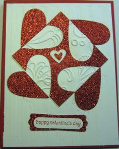 Crafty Maria's Stamping World: Split Negative Technique - Valentine's Day Card
