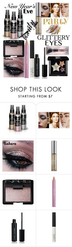 """""""NYE Beauty"""" by sparklemeetsclassic ❤ liked on Polyvore featuring beauty, Urban Decay, NARS Cosmetics, Estée Lauder, Marc Jacobs, Givenchy, Beauty, party, glitter and nyebeauty"""