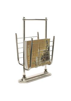 Organize It All Free Standing Magazine Rack in 13K Gold >>> To view further, visit now : Magazine Holders