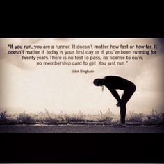 To be a runner....